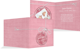 Geburtskarte Faden - Pink (K24)