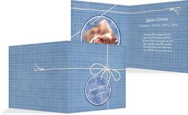 Geburtskarte Faden - Blau (K24)