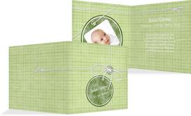 Geburtskarte Faden - Grün (K24)