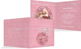 Baby Dankeskarte Faden - Pink (K24)