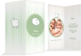 Baby Dankeskarte sheep - Grün (K35)