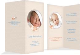 Geburtskarte Schaf - Blau (K35)