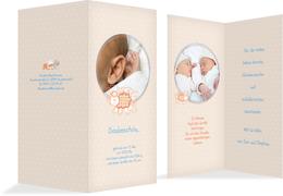 Geburtskarte Danke Schaf - Blau (K35)
