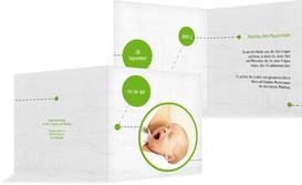 Grußkarte Geburt way of life - Grün (K24)