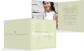 Kommunionseinladung Schutzengel - Grün (K24)