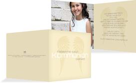 Kommunion Dankeskarte Schutzengel - Champagne (K24)
