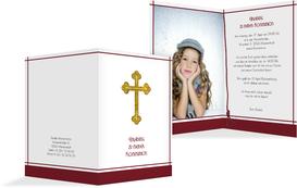 Einladung zur Kommunion Gebetbuch - Rot (K20)