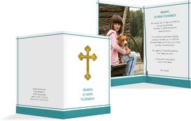 Einladung zur Kommunion Gebetbuch - Türkis (K20)