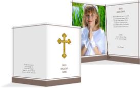 Danksagung zur Kommunion Gebetbuch - Braun (K20)
