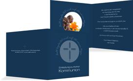 Kommunionseinladung Gottes Wege - Dunkelblau (K24)