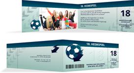 Einladung zum 18. Geburtstag Heimspiel Foto - Türkis (K33)