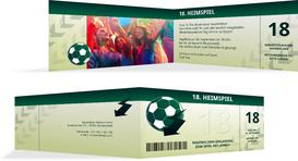 Einladung zum 18. Geburtstag Heimspiel Foto - Grün (K33)