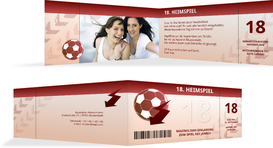 Einladung zum 18. Geburtstag Heimspiel Foto - Rot (K33)