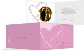 Dankeskarte Doppelherz - Pink (K19)