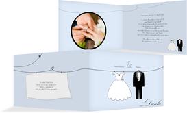 Dankeskarte dress and suit - Hellblau (K19)