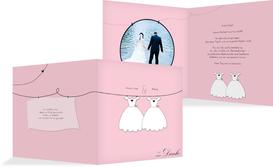 Dankeskarte dresses - Rosa (K24)