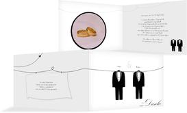Dankeskarte suits - Weiß (K19)