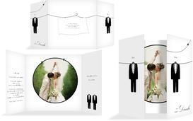 Dankeskarte suits - Weiß (K40)