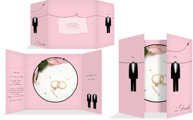 Dankeskarte suits - Rosa (K40)
