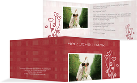 Danksagungskarte Liebestraum - Rot (K19)