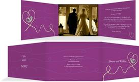 Dankeskarte zur Hochzeit erfüllte Liebe - Pink (K21)
