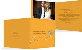 Dankeskarte zur Hochzeit erfüllte Liebe - Gelb (K24)