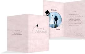 Dankeskarte Kette Zylinder - Rosa (K20)
