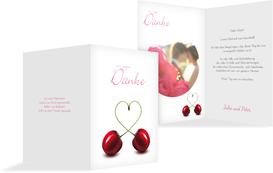 Dankeskarte Kirsche - Pink (K20)
