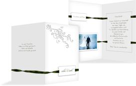 Dankeskarte Loop Label - Grün (K20)