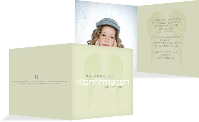 konfirmationseinladung schutzengel, Einladungen