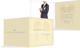 Konfirmationseinladung Schutzengel - Champagne (K24)