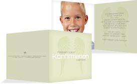 Konfirmation Dankeskarte Schutzengel - Grün (K24)