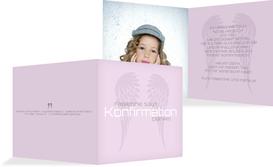 Konfirmation Dankeskarte Schutzengel - Lila (K24)