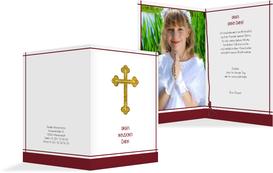 Danksagung zur Konfirmation Gebetbuch - Rot (K20)