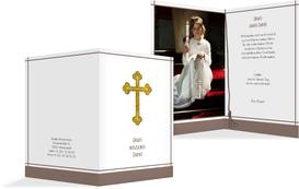 Danksagung zur Konfirmation Gebetbuch - Braun (K20)