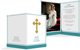 Einladung zur Konfirmation Gebetbuch - Türkis (K20)