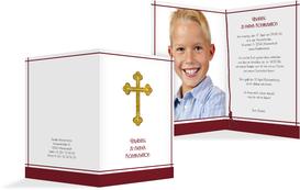 Einladung Zur Konfirmation Gebetbuch   Rot (K20)