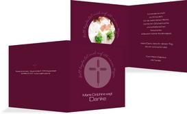 Konfirmationskarte Danke Gottes Wege - Rot (K24)