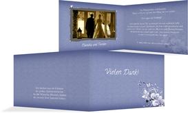Dankeskarte Liebeswunder - Dunkelblau (K19)