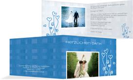 Danksagungskarte Liebestraum - Blau (K19)