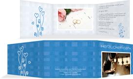 Danksagungskarte Liebestraum - Blau (K21)