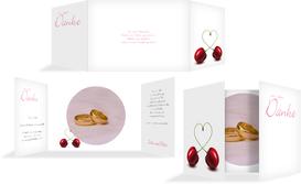 Dankeskarte Kirsche - Pink (K39)