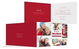 Weihnachtseinladung Bilder - Rot (K19)