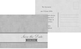 Save the Date Vintage Spitzenbordüre - Grau (K25)