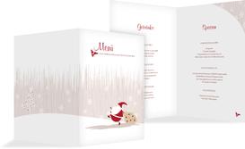 Weihnachtsmenükarte Weihnachtsmann - Braun (K38)