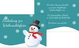 Weihnachtseinladung Schneemann - Pink (K25)