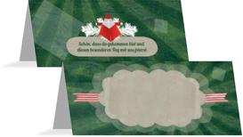 Weihnachtstischkarte Origami - Grün (K32)