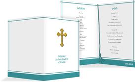 Menü zur Konfirmation Gebetbuch - Türkis (K38)