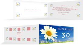 Einladung zum Geburtstag Lebensfreude 30 - Rot (K33)
