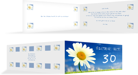 Einladung zum Geburtstag Lebensfreude 30 - Blau (K33)